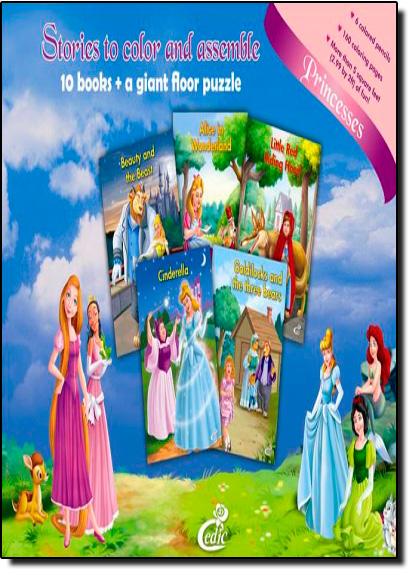 Histórias Para Colorir e Montar: Princesas, livro de Editora Cedic