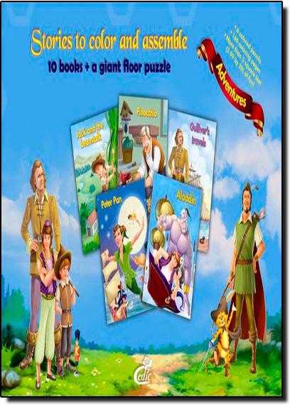Histórias Para Colorir e Montar: Aventuras, livro de Editora Cedic