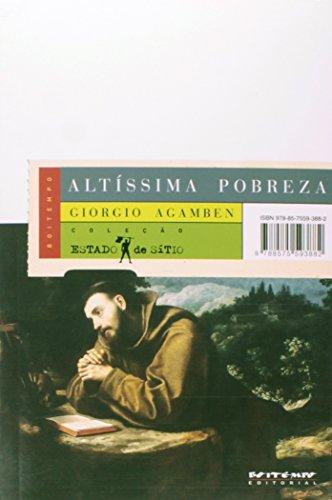 Altíssima pobreza, livro de Giorgio Agamben
