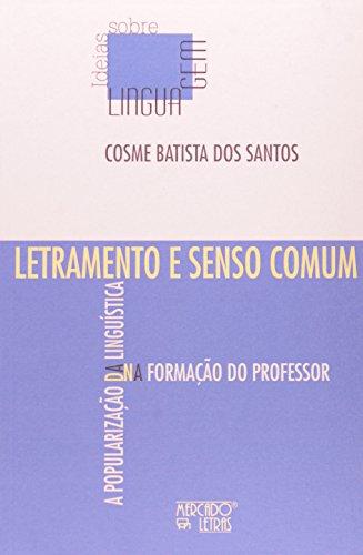 Letramento e senso comum, livro de Coesme Batista dos Santos