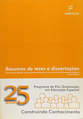 Programa De Pos-Graduacao Em Educacao Especial, livro de Vários Autores