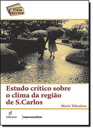 Estudo crítico sobre o clima da região de São Carlos, livro de Mario Tolentino