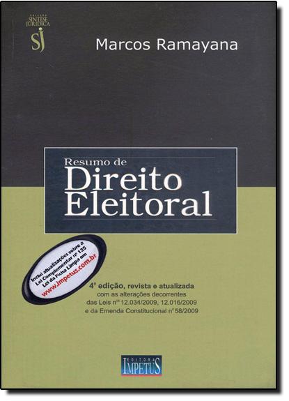 Resumo de Direito Eleitoral, livro de Marcos Ramayana