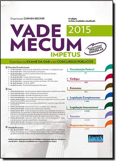 Vade Mecum Impetus Para Oab e Concursos 2015, livro de Carmem Becker