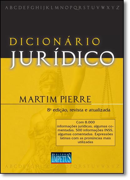 Dicionário Jurídico, livro de Martim Pierre