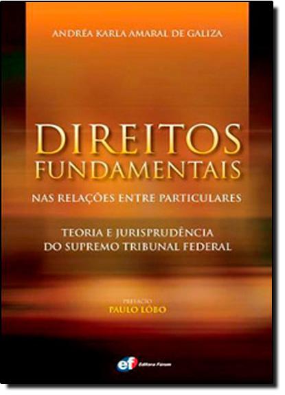 Direitos Fundamentais nas Relaçoes Entre Particulares: Teoria e Jurisprudência do Supremo Tribunal Federal, livro de Andrea Karla Amaral de Galiza