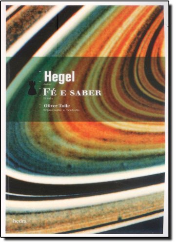 Fé e Saber, livro de Georg Wilhelm Friedrich Hegel