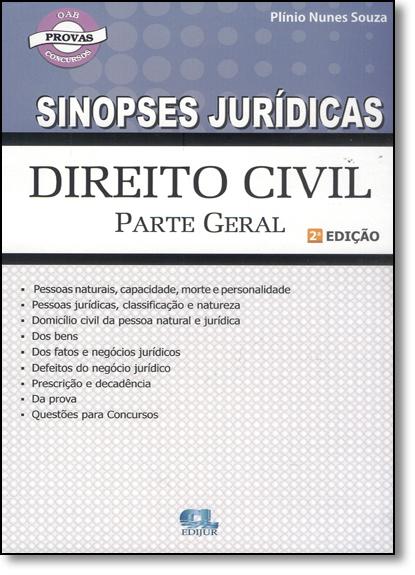 Direito Civil: Parte Geral - Coleção Sinopses Jurídicas, livro de Plínio Nunes Souza