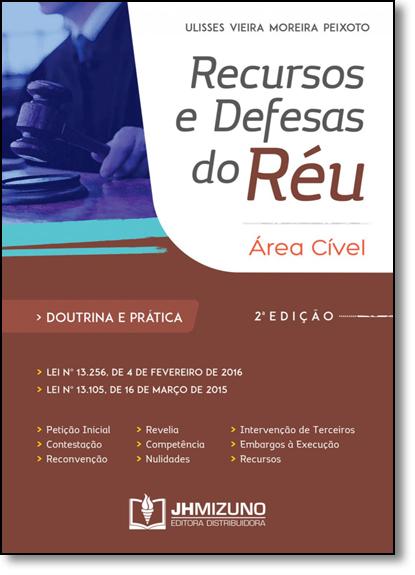 Recursos e Defesas do Réu, livro de Ulisses Vieira Moreira Peixoto