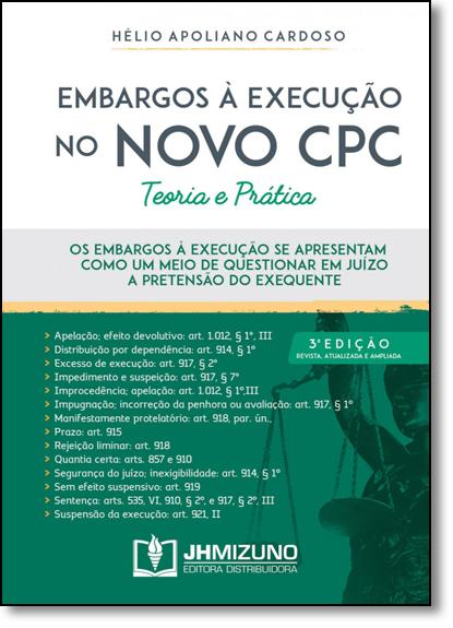 Embargos a Execução no Novo Cpc, livro de Helio Apoliano Cardoso