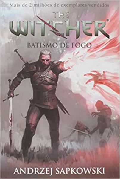 Batismo de Fogo - Vol.5 - Série The Witcher - Capa Game, livro de Andrzej Sapkowski