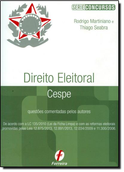 Direito Eleitoral - Cespe, livro de Rodrigo Martiniano