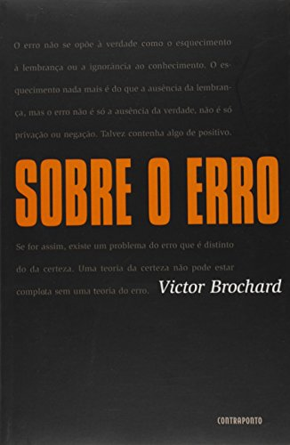 Sobre O Erro, livro de VICTOR BROCHARD