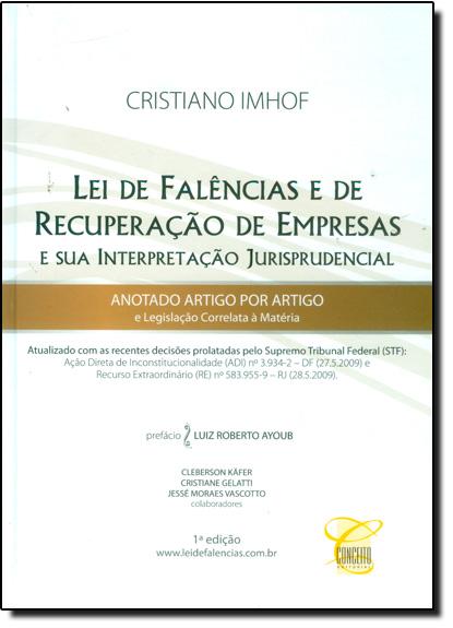 Lei de Falências e de Recuperação de Empresas, livro de Cristiano Imhof