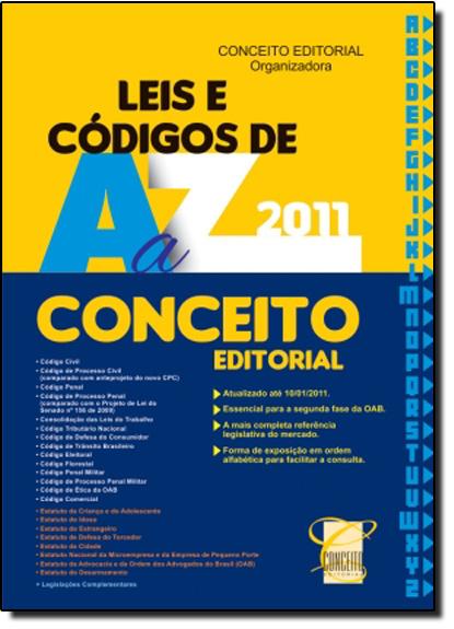 Leis e Códigos de A a Z, livro de Conceito Editorial