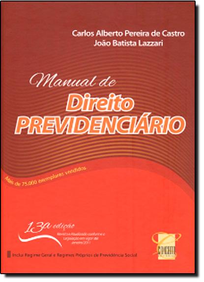 Manual de Direito Previdenciário, livro de Jefferson Luis Kravchychyn