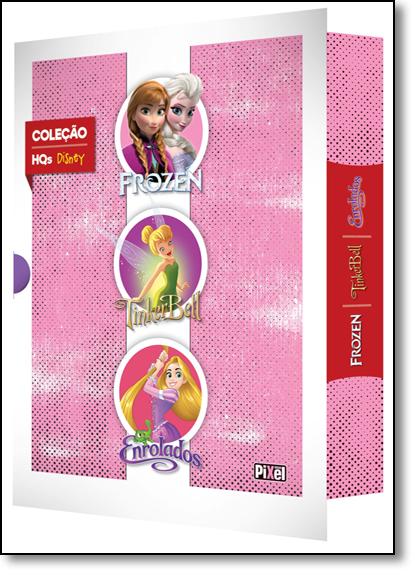 Coleção Hqs Disney: Frozen, Tinkerbell e Enrolados - 3 Volumes, livro de Disney