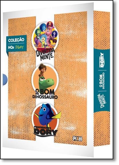 Coleção Hqs Disney: Divertida Mente, O Bom Dinossauro, Procurando Dory, livro de Disney Pixar