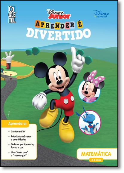 Disney Junior: Matemática 4-5 Anos - Coleção Aprender É Divertido, livro de Disney Junior