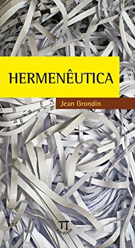 Hermêneutica, livro de Jean Grondin