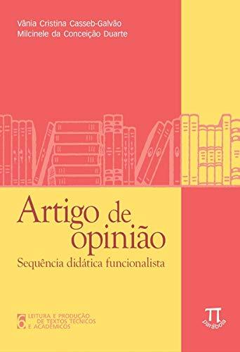 Artigo de opinião. Sequência didática funcionalista, livro de Vânia Cristina Casseb-Galvão, Milcinele da Conceição Duarte