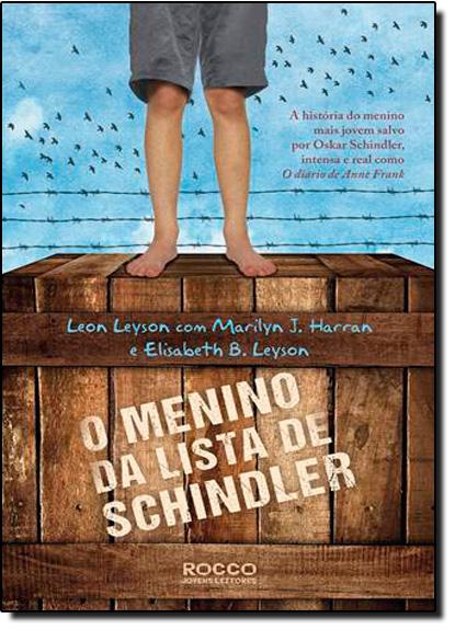 Menino da Lista de Schindler, O, livro de Elisabeth B. Leyson