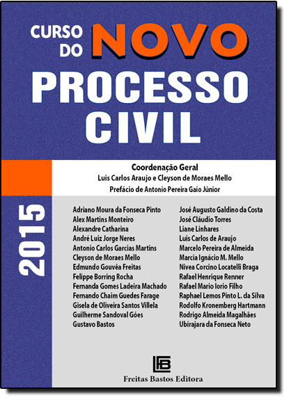 Curso do Novo Processo Civil, livro de Luis Carlos Araújo