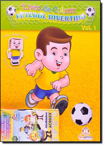 Livro de Colorir: Futebol Divertido - Vol.1, livro de Blu Editora