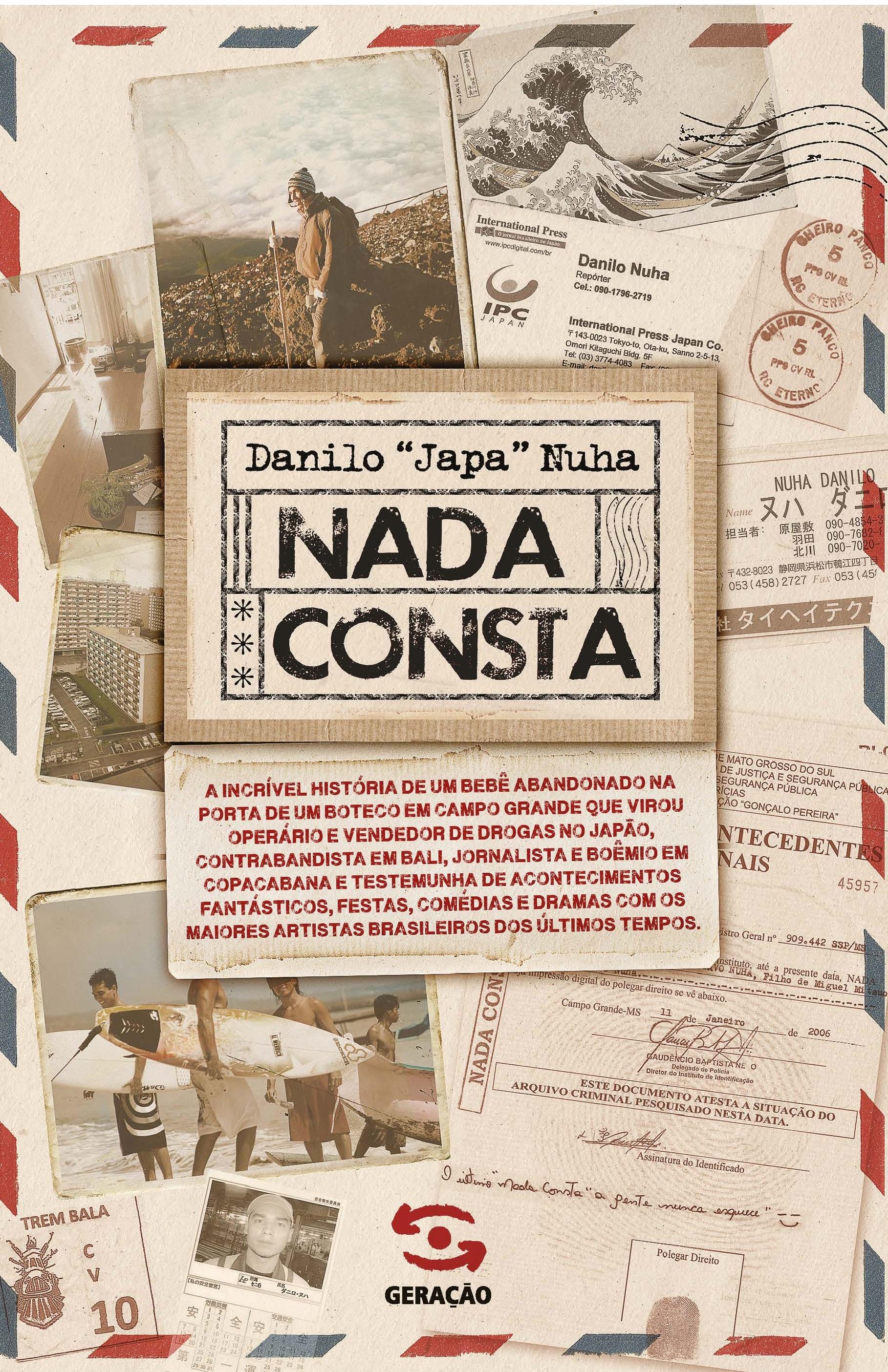 "Nada Consta, livro de Danilo ""Japa"" Nuha"