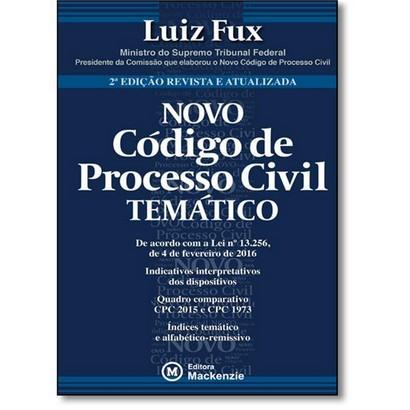 Novo Código de Processo Civil Temático 2ª edição revista e atualizada, livro de Luiz Fux