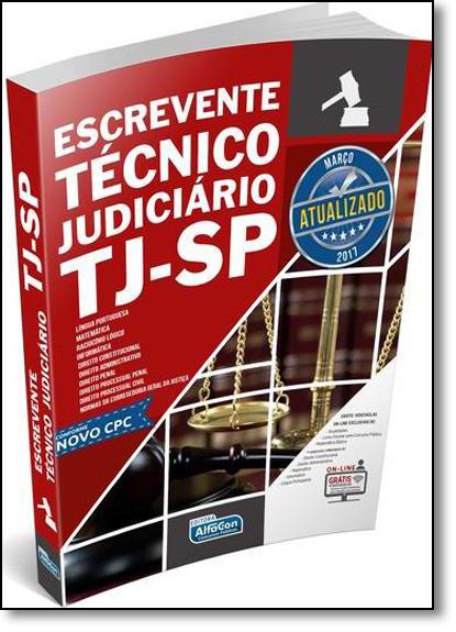Escrevente Técnico Judiciário Tj-sp, livro de EDITORA ALFACON