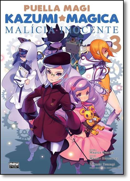 Kazumi Magica: Malicia Inocente - Vol.3, livro de Masaki Hiramatsu