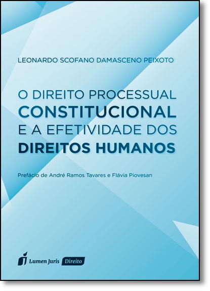Direito Processual Constitucional e a Efetividade dos Direitos Humanos, O, livro de Leonardo Scofano Damasceno Peixoto
