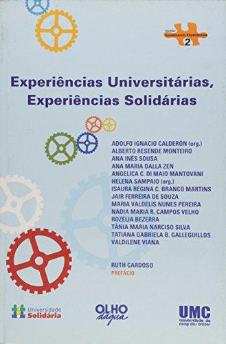 Experiencias Universitarias, Experiencias Solidarias, livro de Adolfo Ignacio Calderon
