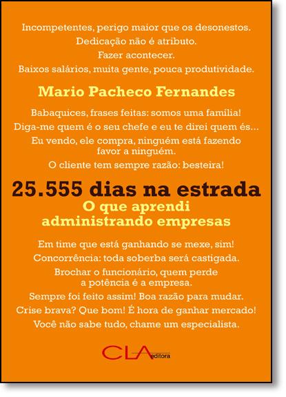25.555 Dias na Estrada: O que Aprendi Administrando Empresas, livro de Mario Pacheco Fernandes