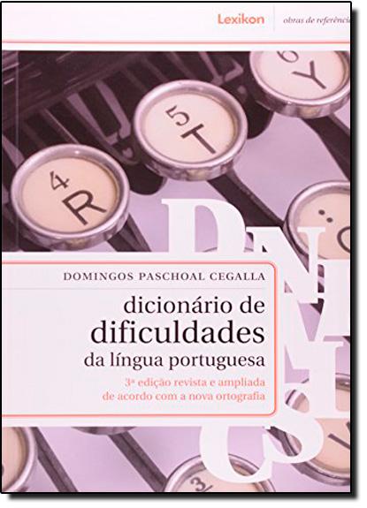Dicionário de Dificuldades da Língua Portuguesa, livro de Domingos Paschoal Cegalla