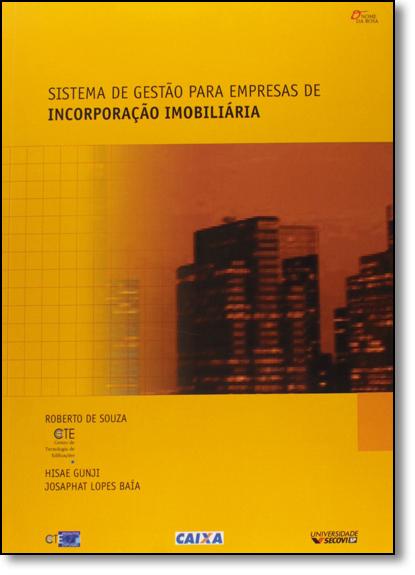 Sistema de Gestão Para Empresas de Incorporação, livro de Roberto de Souza
