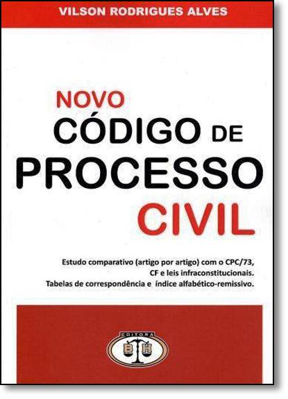 Novo Código de Processo Civil, livro de Vilson Rodrigues Alves