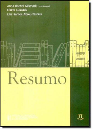 RESUMO, livro de MACHADO, ANNA RACHEL