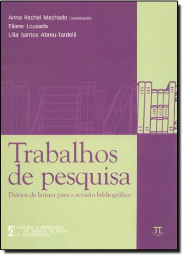 TRABALHOS DE PESQUISA, livro de MACHADO, ANNA RACHEL