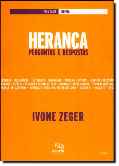 Herança: Perguntas e Respostas, livro de Ivone Zeger