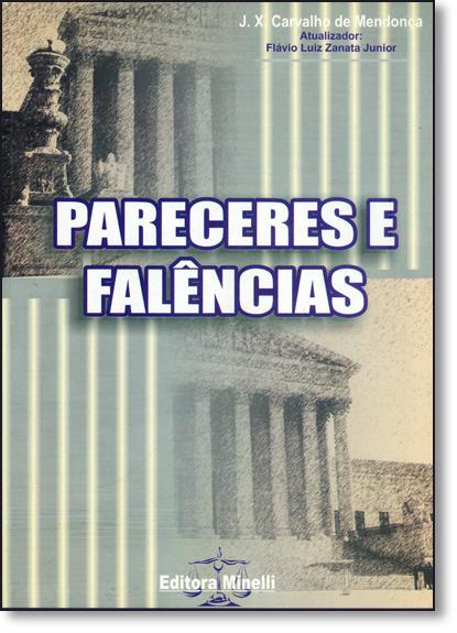 Pareceres e Falências, livro de José Xavier Carvalho de Mendonça