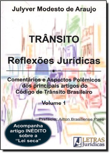 TRANSITO - REFLEXOES JURIDICAS, livro de ARAUJO, JULYVER