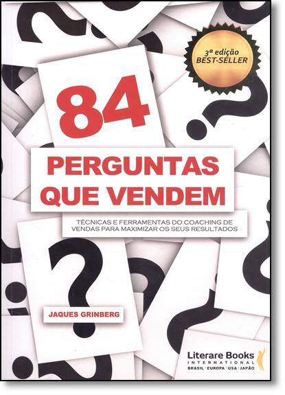 84 Perguntas que Vendem, livro de Jaques Grinberg Costa
