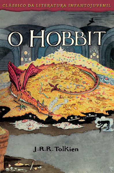 O Hobbit - Capa Smaug, livro de J. R. R. Tolkien