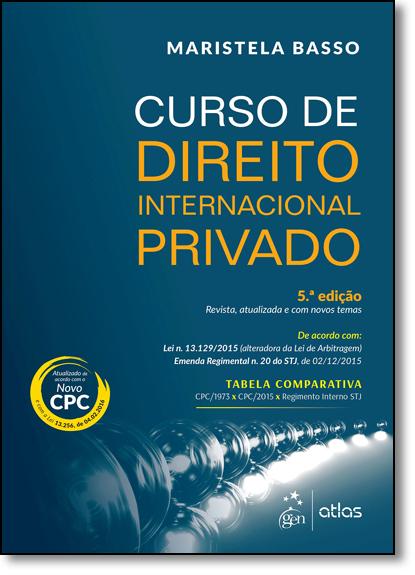 Curso de Direito Internacional Privado, livro de Maristela Basso