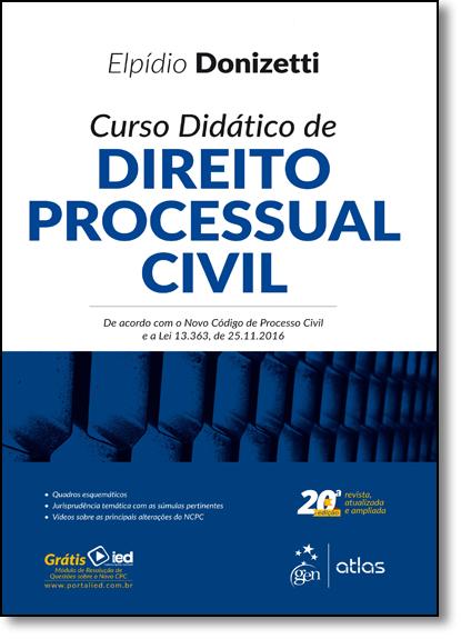 Curso Didático de Direito Processual Civil, livro de Elpídio Donizetti