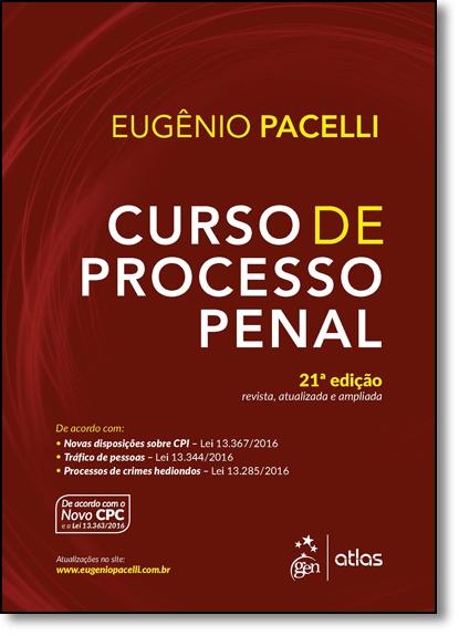 Curso de Processo Penal, livro de Eugênio Pacelli