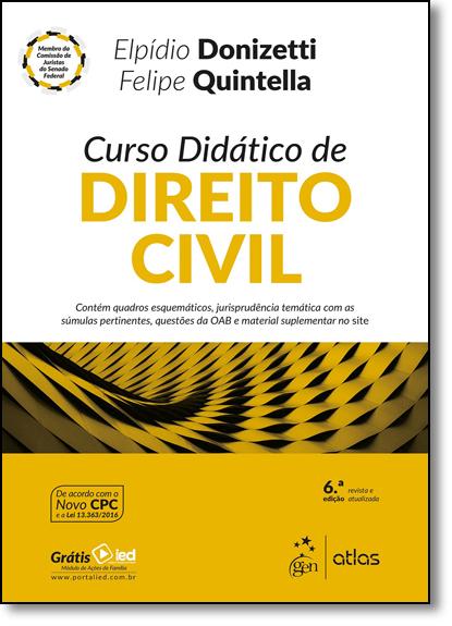 Curso Didático de Direito Civil, livro de Elpídio Donizetti