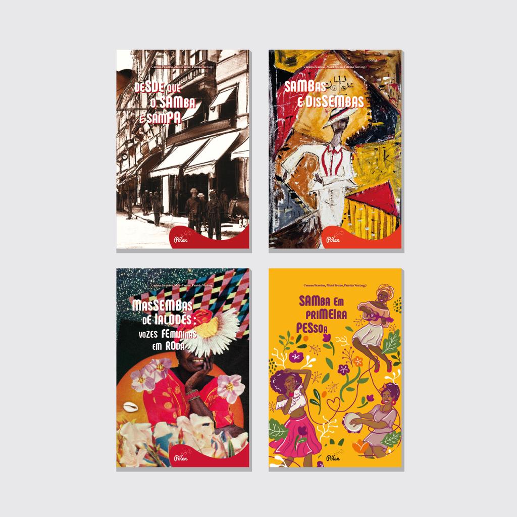 Coleção Sambas Escritos, livro de Carmen Faustino, Maitê Freitas, Patrícia Vaz (orgs.)